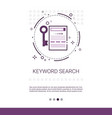 keywording search web optimization banner with vector image