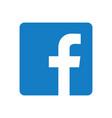 kiev ukraine - november 28 2019 facebook logo vector image vector image
