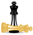 king checkmate vector image vector image