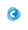 letter c circle vector image