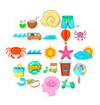 lightweight clothing icons set cartoon style vector image