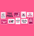 love mail stamp hand drawn romantic vector image