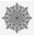 mandala floral circular monochrome pattern vector image vector image