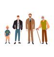 men different ageschild teenager adult vector image