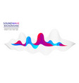 musical soundwave on isloated background abstract vector image vector image