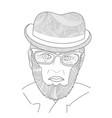 old men portrait man zen tangle grandfather vector image vector image