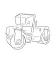 Original road roller vector image