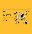 parcel mail logistics delivery vector image