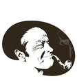 pipe smoker vector image vector image