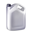 Plastic canister on white background vector image vector image