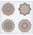 set decorative pattern set of circular vector image vector image