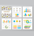 set of colored crime law police and justice vector image vector image