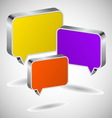 Set of colourful 3D speech icons vector image vector image