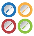 set of four icons with screwdriver vector image vector image