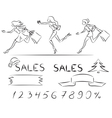 Set sales and shopping vector image vector image