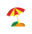 simple beach umbrella vector image vector image