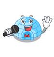 singing igloo ice house isolated on mascot vector image