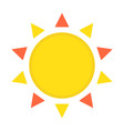 sun flat icon easter and holiday hot sign vector image