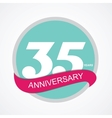 Template Logo 35 Anniversary vector image