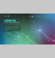 template of header with digital elements vector image