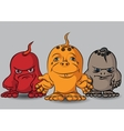 Three small terrible monsters vector image