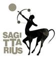 tribal zodiac sagittarius centaur half man and vector image vector image