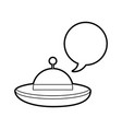 ufo flying with speech bubble vector image vector image