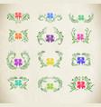 ukrainian folk art petrykivka vector image vector image