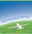 washington flight destination vector image vector image