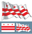 waving flag of washington dc vector image vector image