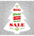 Winter and Christmas Big Sale abstract vector image vector image