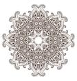 Abstract round lace design mandala vector image