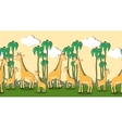 Seamless pattern with cartoon giraffes vector image