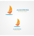 Set of abstract sailboat logo vector image