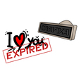 Love expired stamp vector image