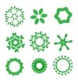 Organic design elements set vector image