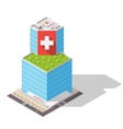isometric Hospital High-tech vector image