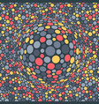 abstract background with color circles chaotic vector image