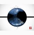 abstract blue ink wash painting big circle on vector image vector image