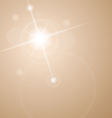 abstract star with lenses flare vector image vector image
