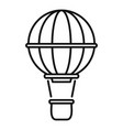 airship balloon icon outline style vector image vector image
