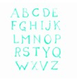 alphabet watercolor paint on paper drawing letters vector image vector image