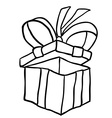 black and white gift box vector image vector image