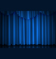 blue curtain theater cinema or scene drape vector image vector image