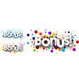 Bonus colour banners vector image vector image
