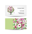 Business card template design Floral tree vector image vector image
