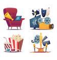 cinema cartoon entertainment conceptual vector image vector image
