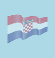 croatia flag on blue background wave strip vector image vector image