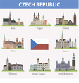 Czech Symbols of cities vector image