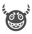 demon mask solid icon halloween mask vector image
